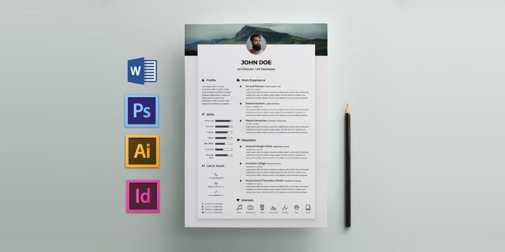 رزومه رایگان قالب CV