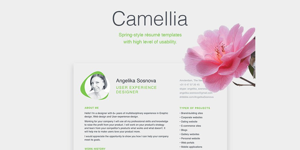 Free Resume Cover Letter Templates PSD
