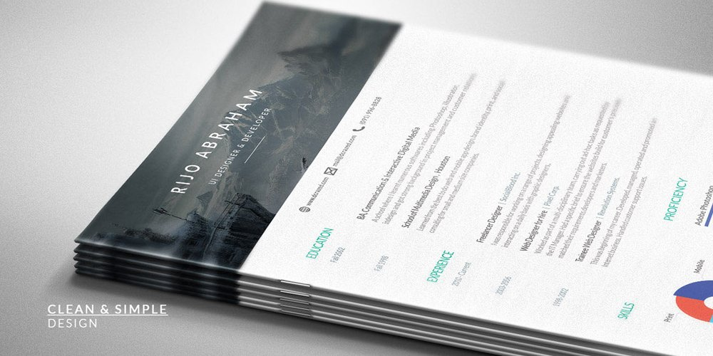 Free Resume Template for Designers