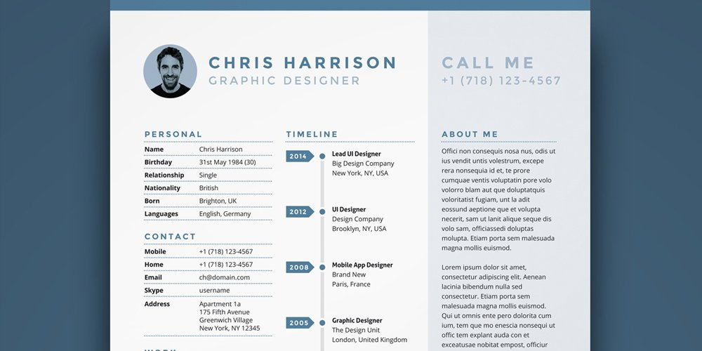Ultimate collection of free resume templates css author free resume template pronofoot35fo Images