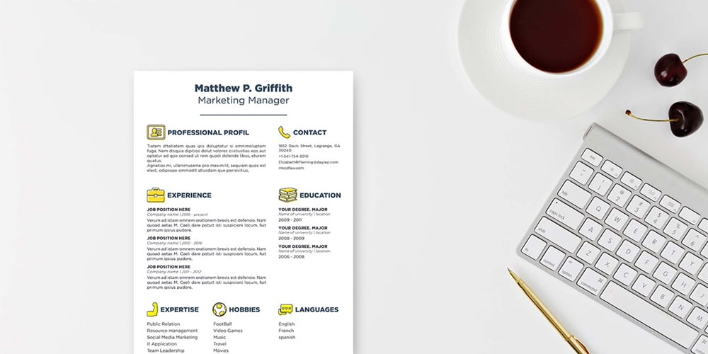 Free Resume and Cover Letter Template PSD