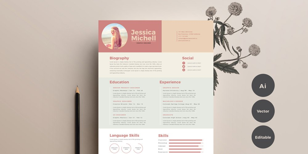 Free Simple & Elegant Resume Template