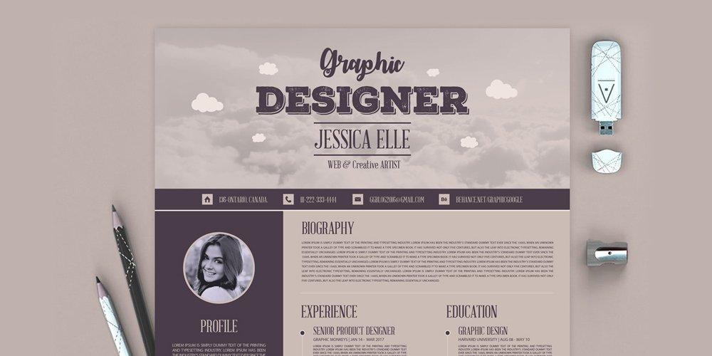 رایگان گفتگوی رزومه طراحی قالب برای طراحان