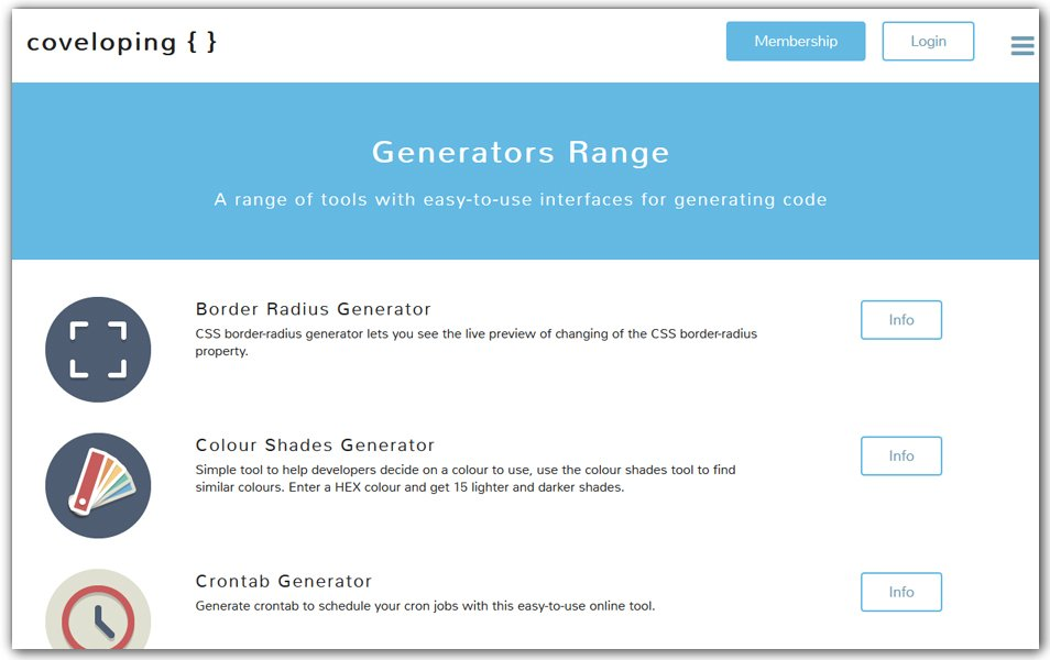 Generators | Coveloping