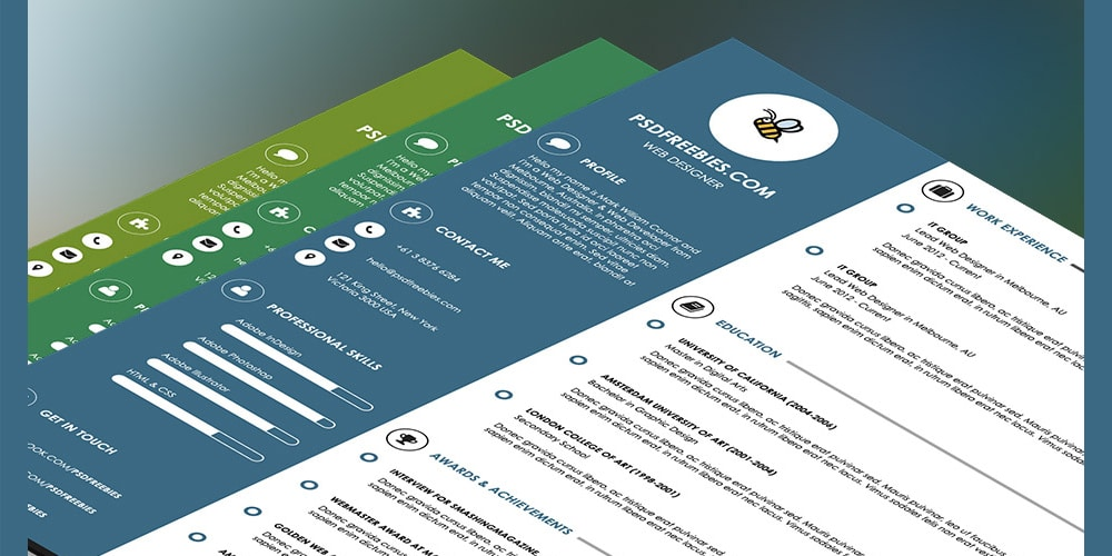Graphic Designer Resume Template PSD