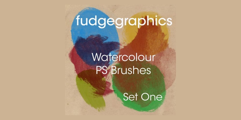 High-Resolution Watercolour Photoshop Brushes