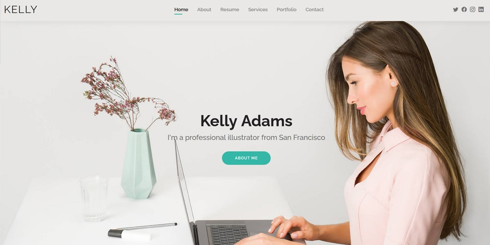Kelly Bootstrap Resume Template