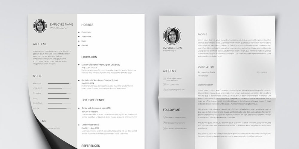 Minimal-and-Clean-Resume-Template-PSD