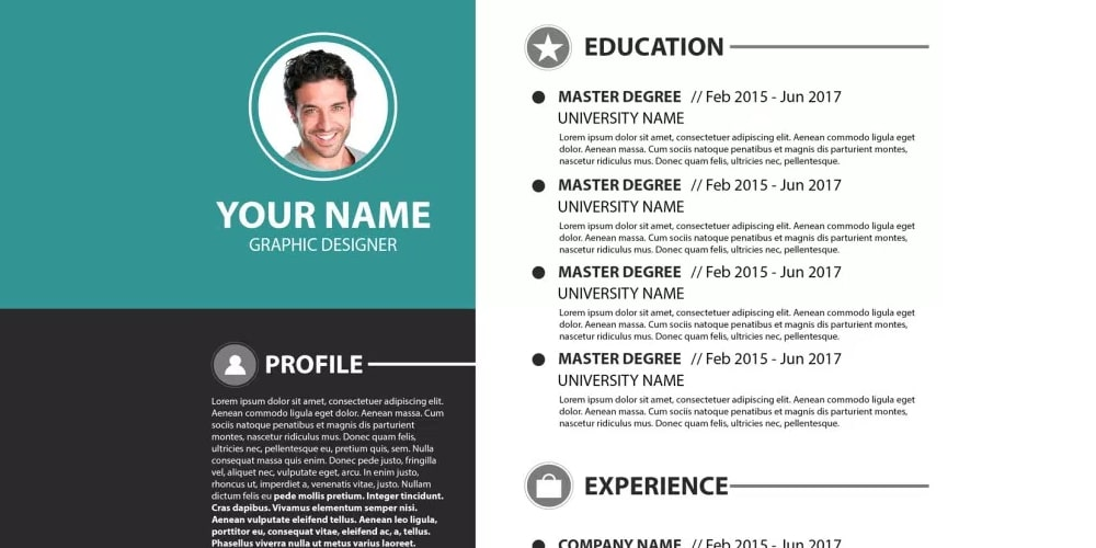 Modern Simple Resume Template PSD
