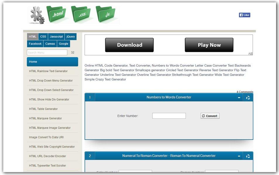 Online HTML Code Generator