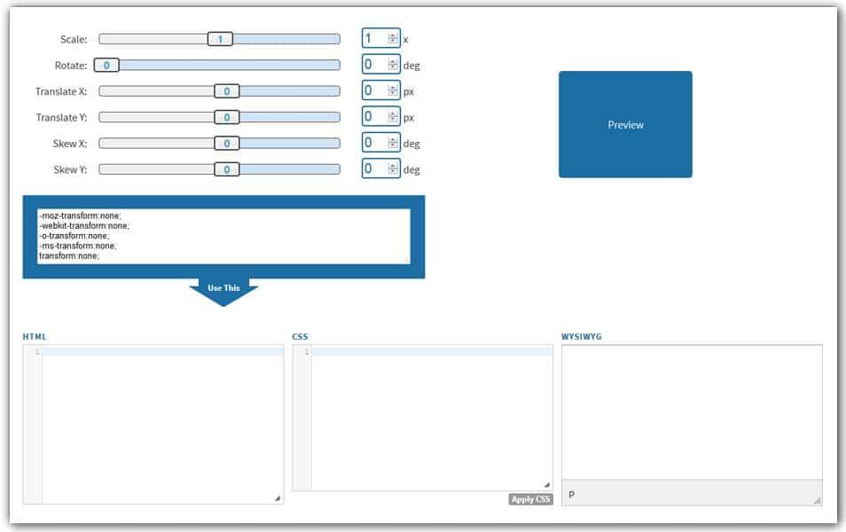 Online Transform CSS Generator