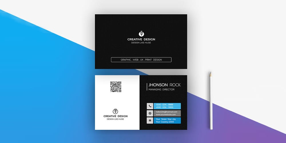 Professional Modern Business Card PSD