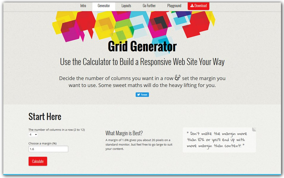 Responsive Grid System calculator