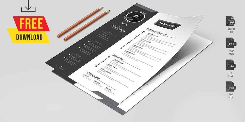 Resume CV and Cover Letter Template