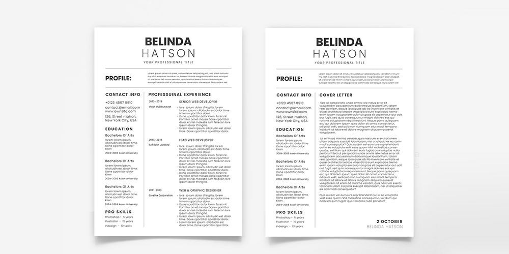 Simple CV and Cover Letter Templates