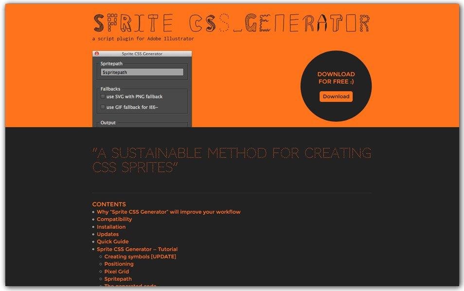 Sprite CSS Generator