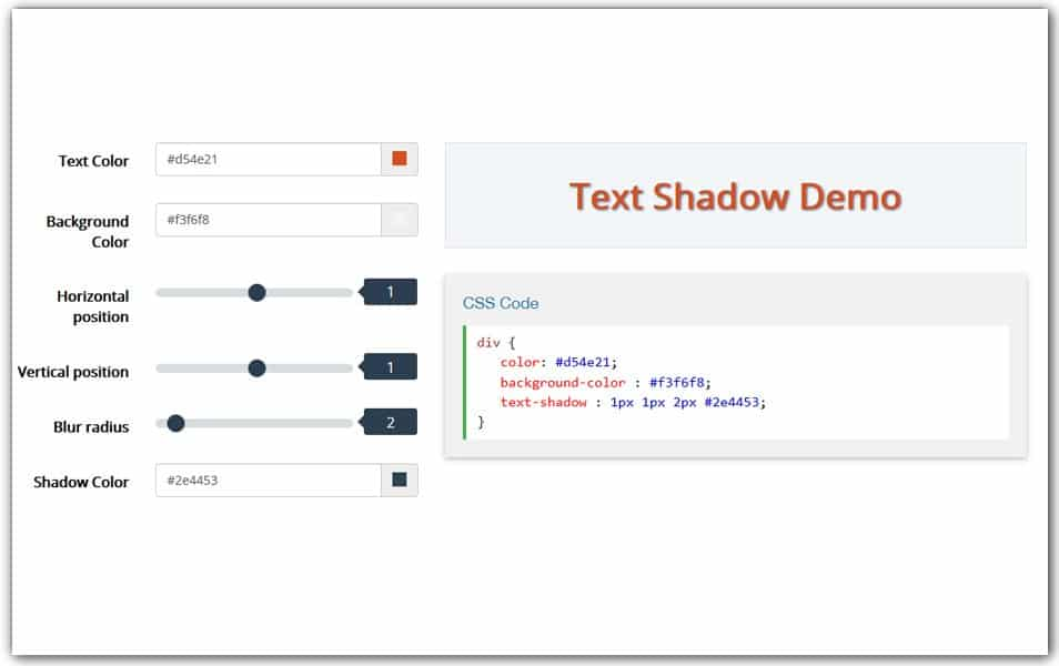 Text Shadow Generator | CSS Tools