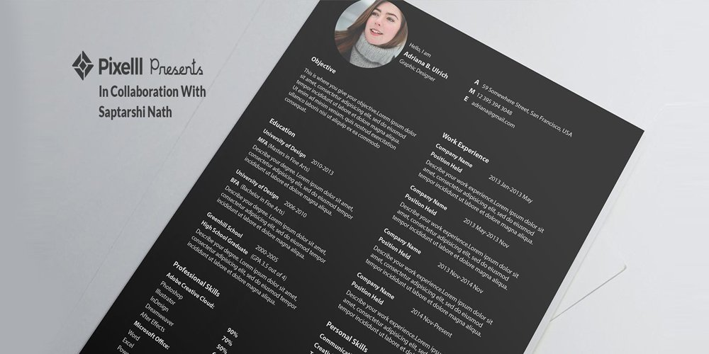 Ultra Minimal Resume Templates PSD