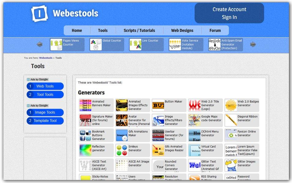 Webestools