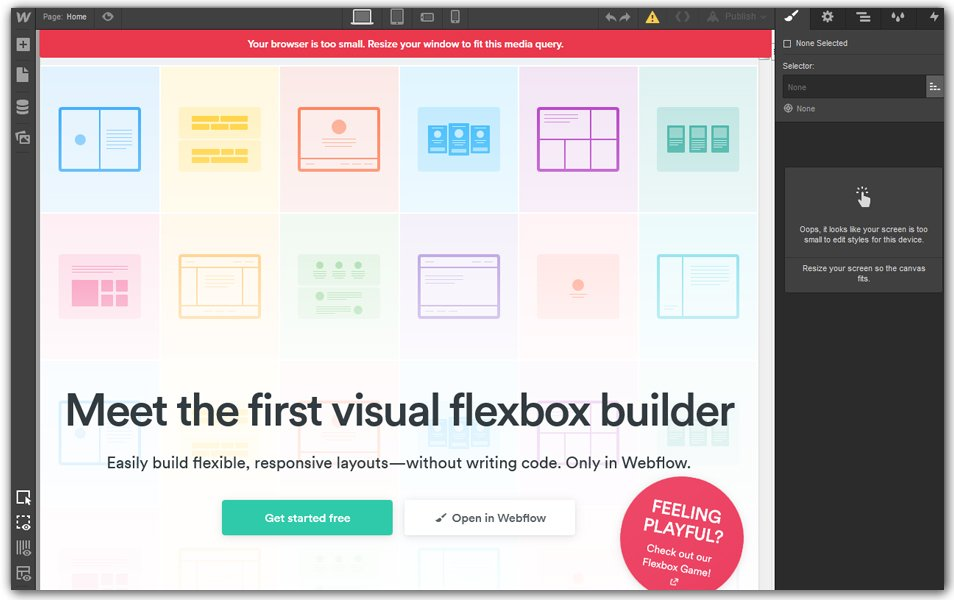 Webflow | Visual CSS flexbox builder