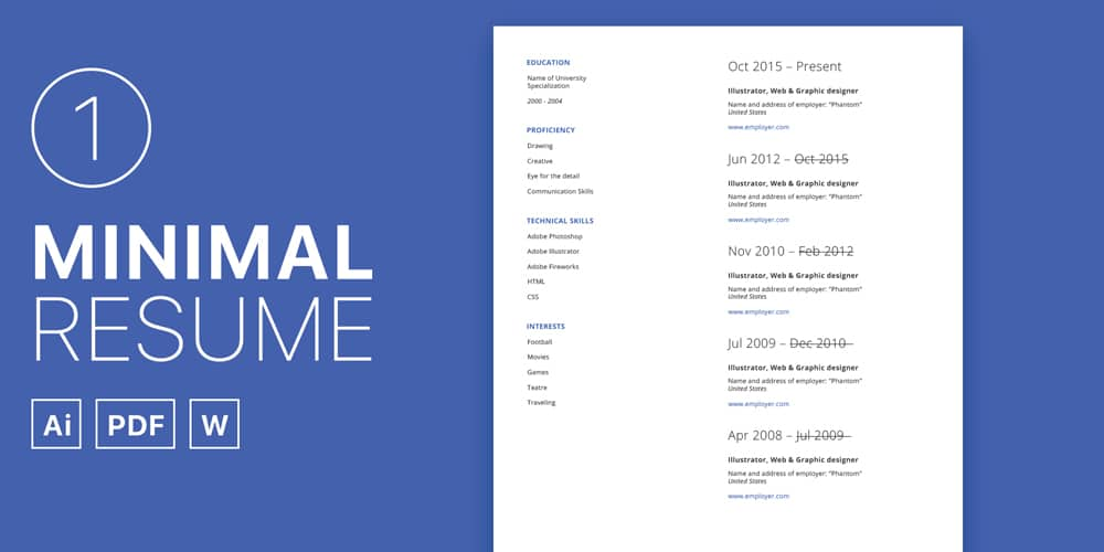 simple cv set template