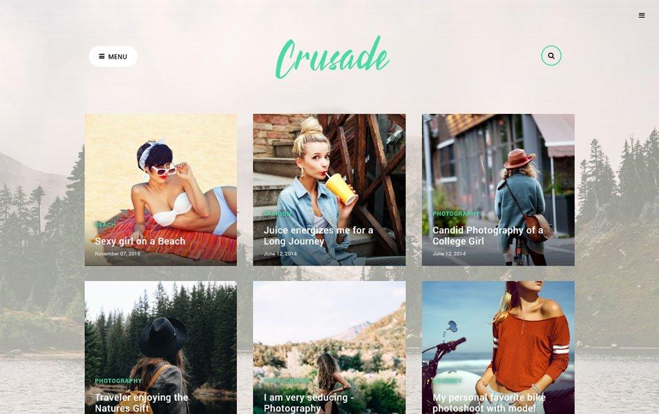 Crusade Responsive Blogger Template