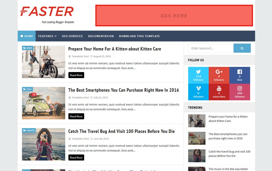 Cepat Cepat Loading Blogger Template