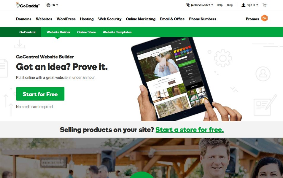 GoDaddy Website Builder