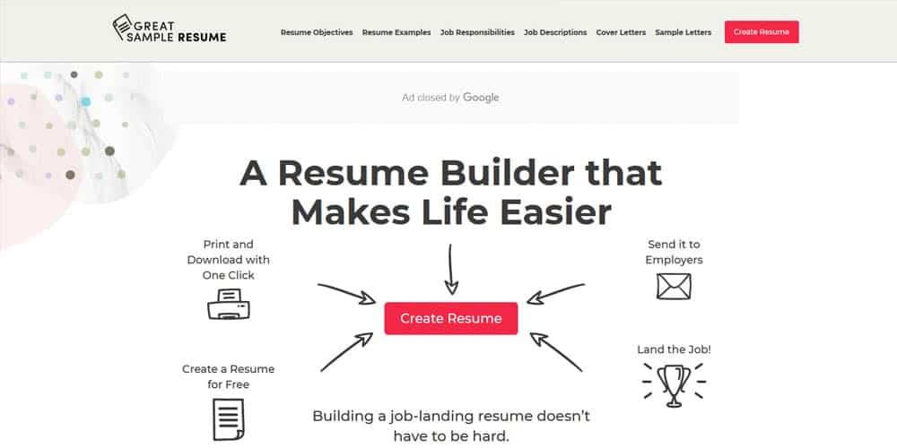 Great Sample Resume Builders Free