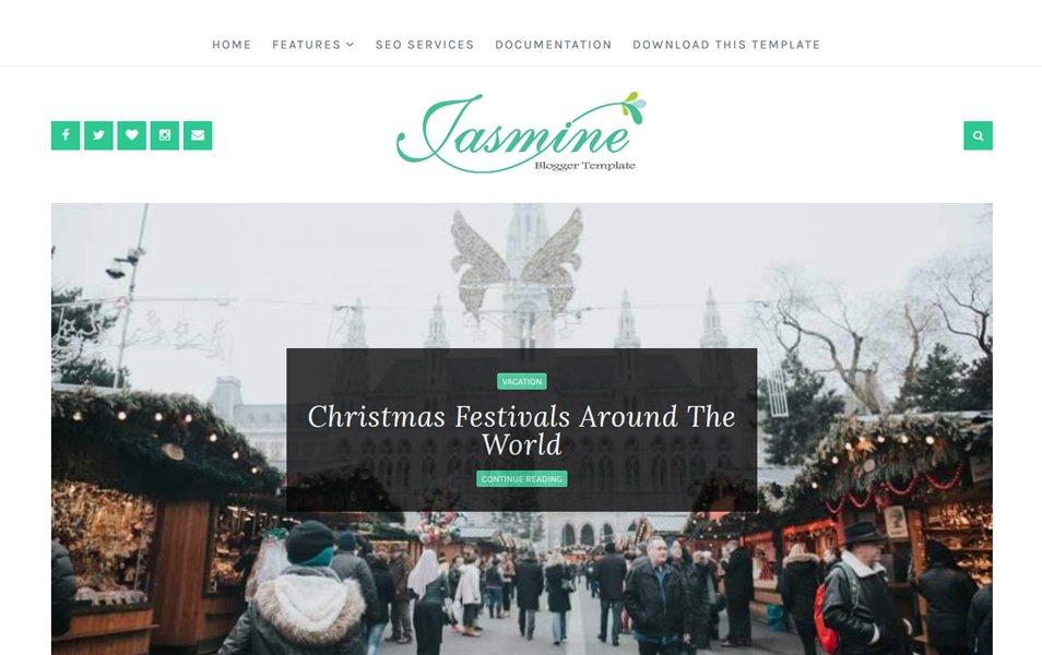 Jasmine Responsive Blogger Template