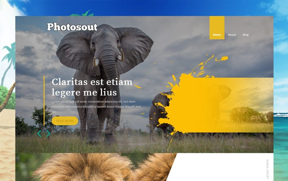 Photosout Responsive Blogger Template