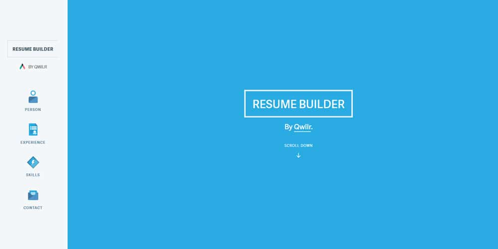 Qwilr Resume Builder