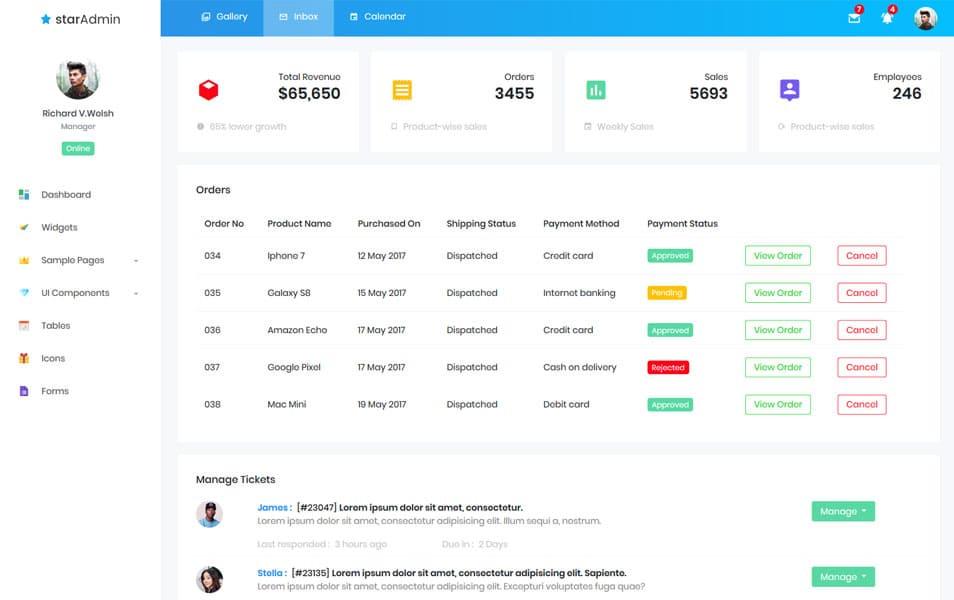 20+ Best Free VueJS Admin Templates » CSS Author