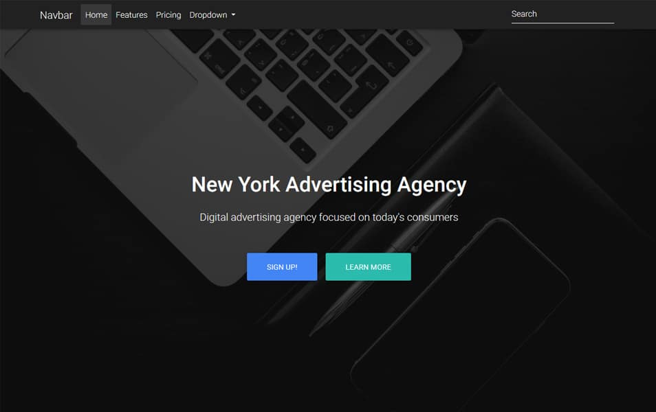 Basic Landing Page Template
