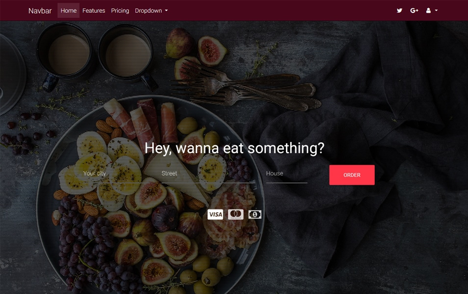 Bootstrap Food Order Homepage Template