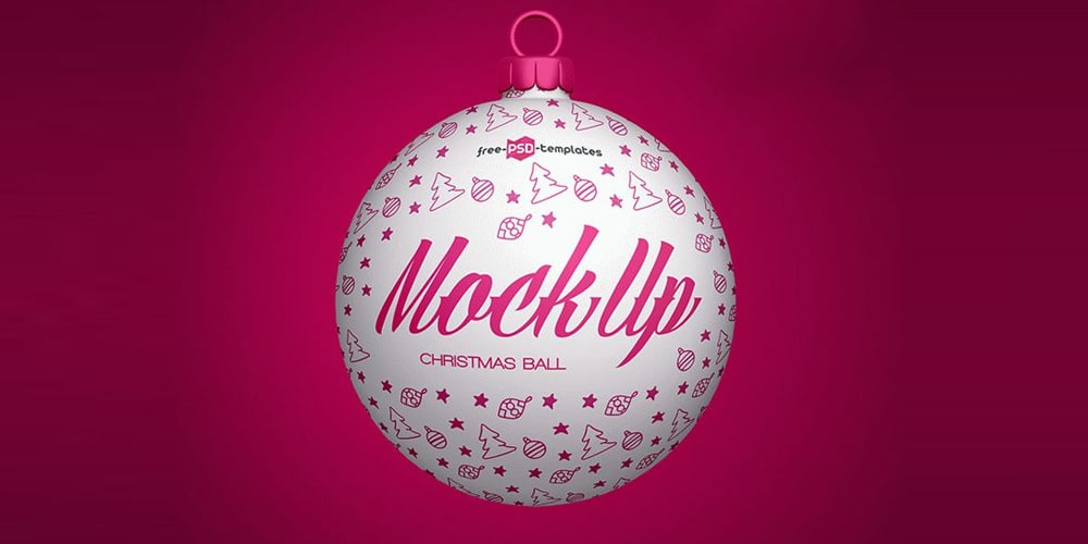Free Christmas Ball Mockup PSD