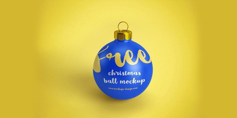 Free Christmas Ball Mockups PSD