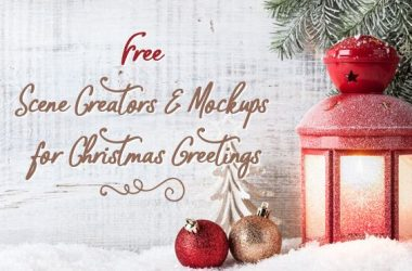 Free Scene Creators and Mockups for Christmas Greetings