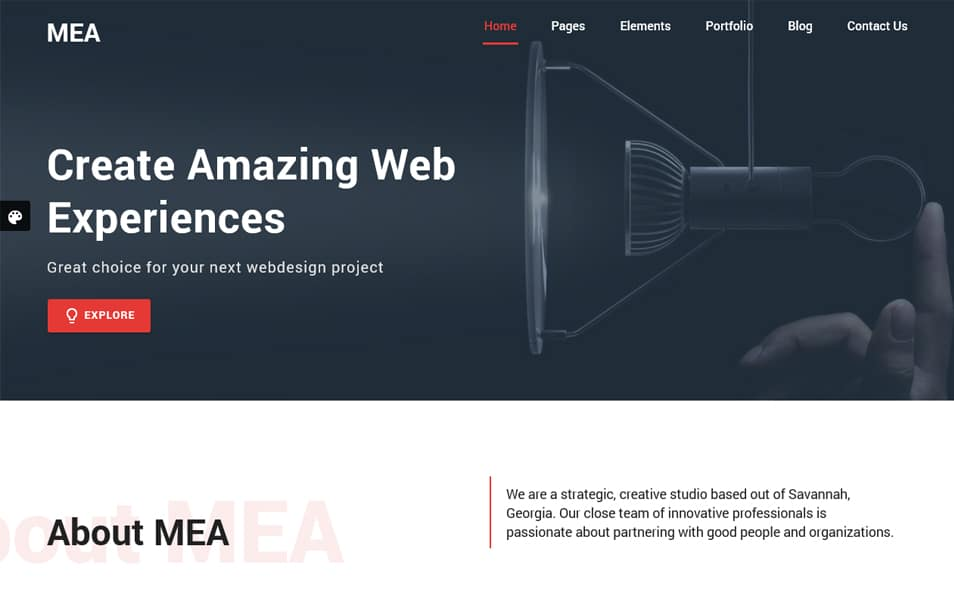 MEA Material Design Bootstrap HTML5 Template