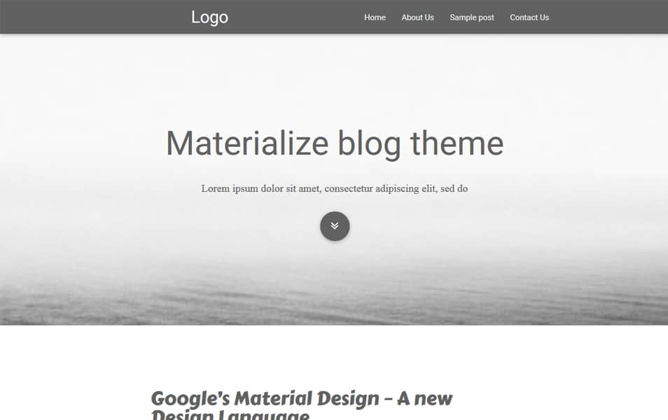 Materialize Blog Theme