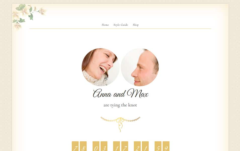 Newlyweds Wedding WordPress Themes