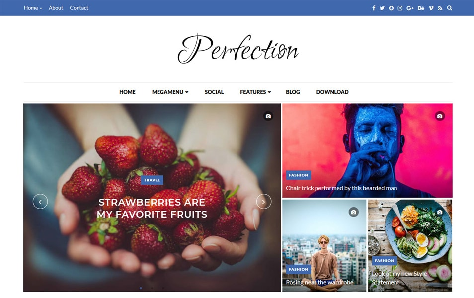 Perfection Responsive Blogger Template