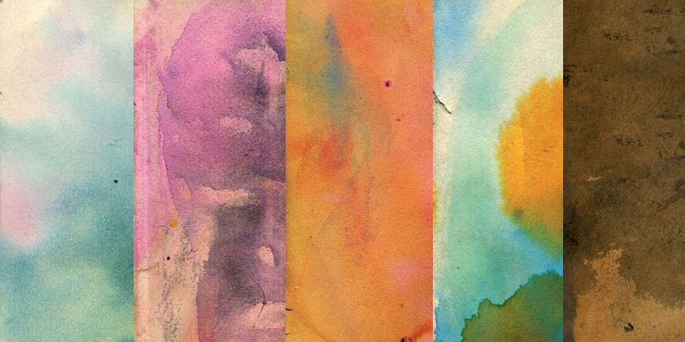 Watercolor Stained Paper Textures