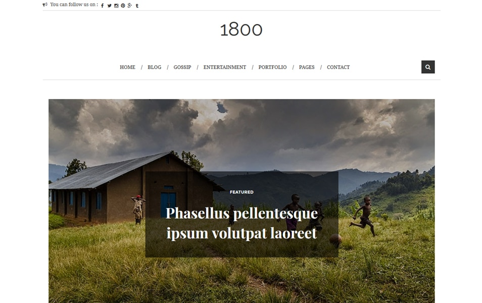 1800 Responsive Blogger Template