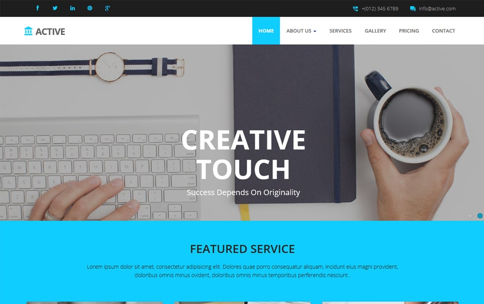 Active HTML Corporate Website Template