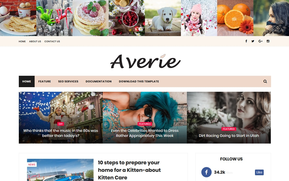 Averie Responsive Blogger Template