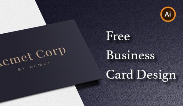 Business Card Vector Mockup Template