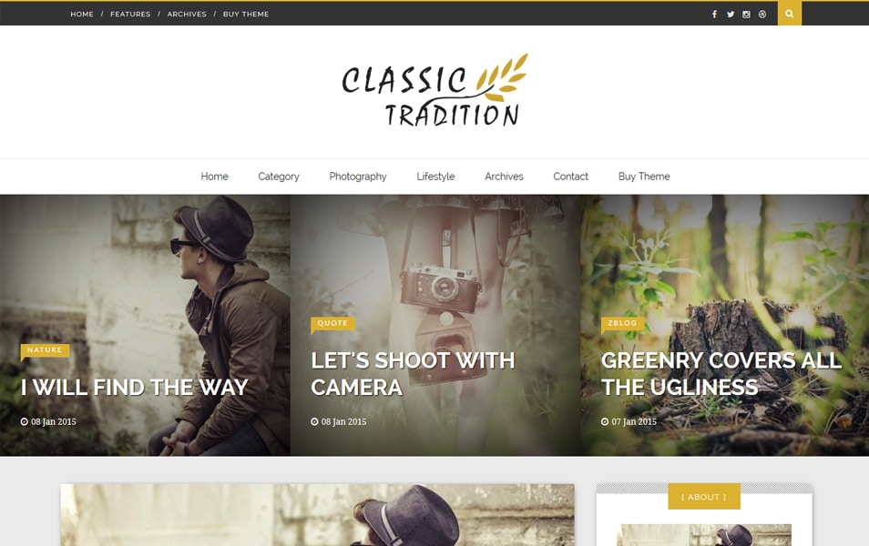 Classic Tradition Responsive Blogger Template