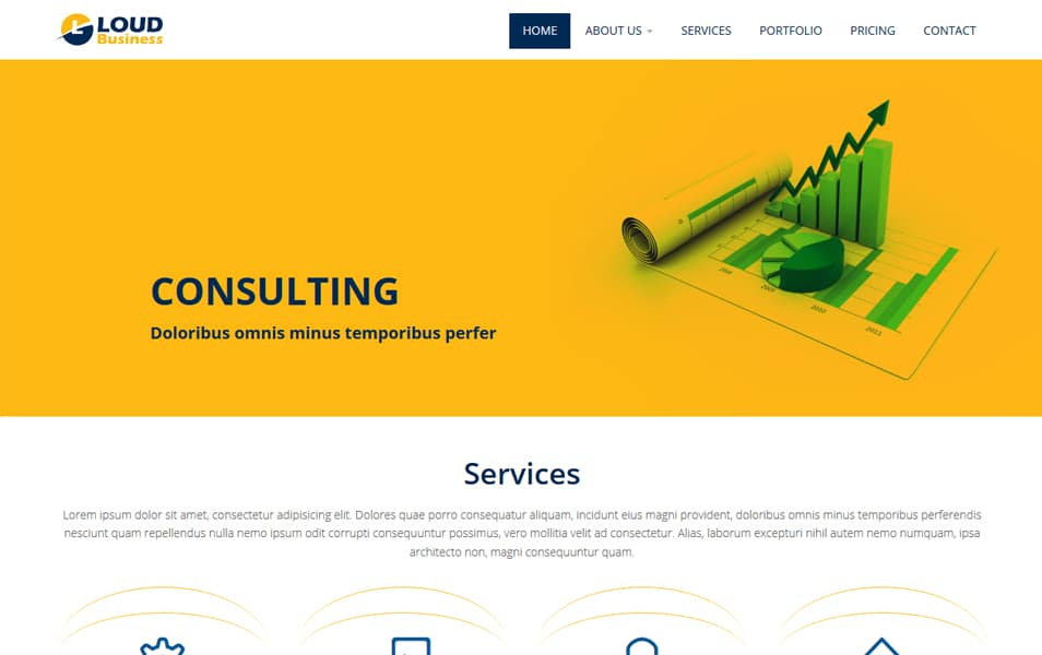 Loud Business HTML5 Responsive Website Template