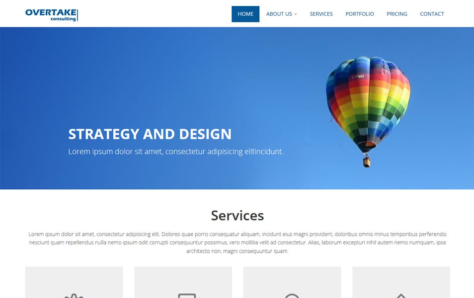 Overtake Business Bootstrap HTML Website Template